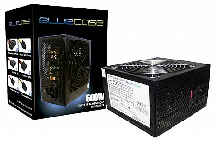 Fonte 500W Bluecase BLU500-ATX - Eficiência 70%