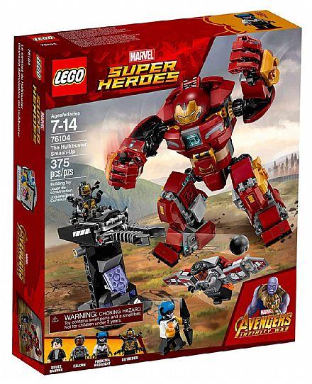 LEGO Marvel Super Heroes - O Ataque Destruidor de Hulkbuster - 76104