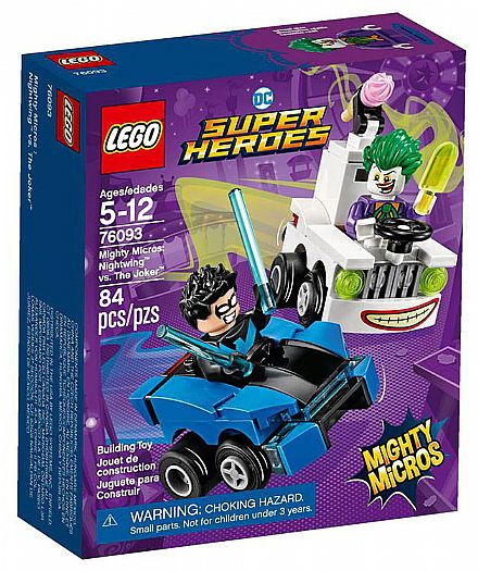 LEGO DC Super Heroes - Mighty Micros: Asa-Noturna vs Coringa - 76093