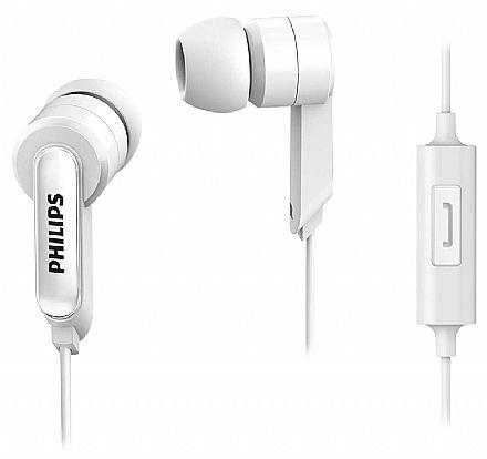 Fone de Ouvido Intra Auricular Philips - com Microfone - Branco - SHE1405WT/94 BR
