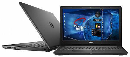 """Notebook Dell Inspiron i15-3567-D30P - Tela 15.6"""", Intel i5 7200U, 4GB, HD 1TB, Intel HD Graphics 620, Linux - Preto - Outlet"""
