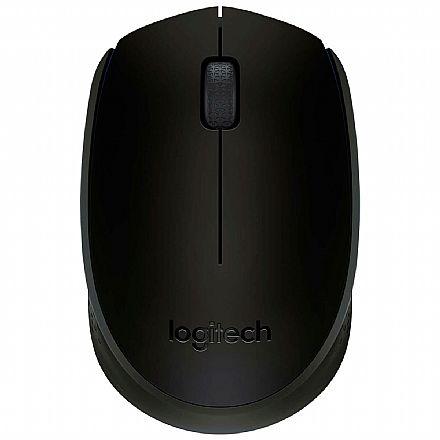 Mouse sem Fio Logitech M170 - 2.4GHz - 1000dpi - Preto - 910-004940