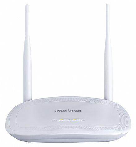 Roteador Wi-Fi Intelbras IWR 3000N - 300Mbps - 2 Antenas de 5dBi - com Modo Repetidor de Sinal