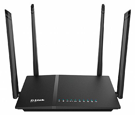Roteador Wi-Fi D-Link DIR-825 AC1200 - Dual Band 2.4 GHz e 5 GHz - Gigabit - 1 Porta USB - 4 Antenas