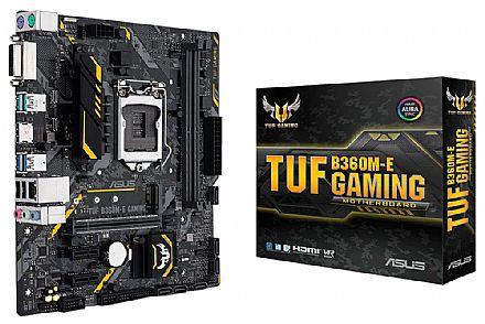 Asus TUF B360M-E GAMING (LGA 1151 - DDR4 2666) Chipset Intel B360 - 8ª Geração Coffee Lake - Slot M.2 - Intel Optane - Iluminação LED