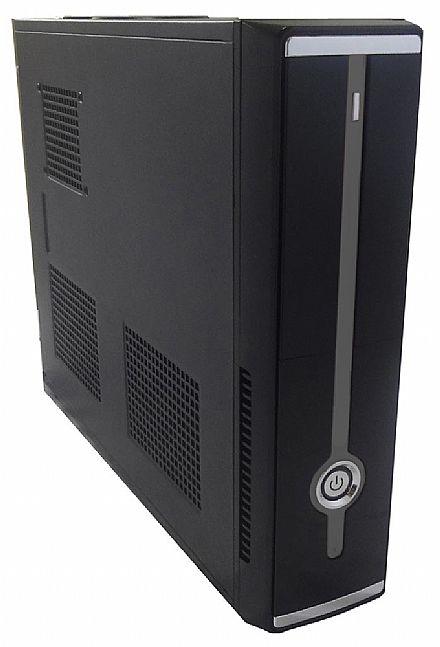 Gabinete Slim CaseMall Case Black S104-B - Vertical / Horizontal - Preto