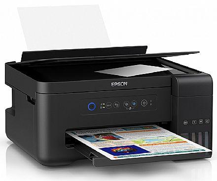 Multifuncional Epson EcoTank L4150 com Tanque de Tinta - USB, Wi-Fi, Wi-Fi Direct® - Impressora, Copiadora e Scanner - C11CG25302