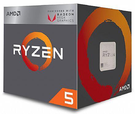 AMD Ryzen™ 5 2400G Quad Core - 8 Threads - 3.6GHz (Turbo 3.9GHz) - Cache 6MB - AM4 - TDP 65W - Radeon™ VEGA Graphics - YD2400C5FBBOX