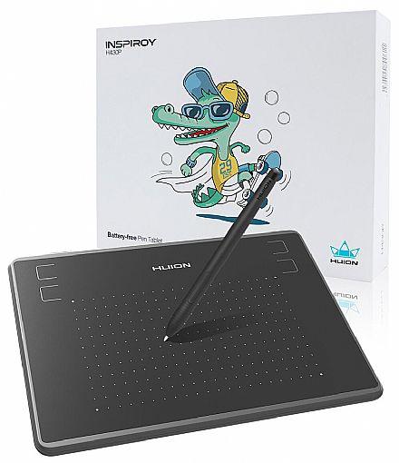 Mesa Digitalizadora Huion H430P Inspiroy - Pequena - com 4 atalhos