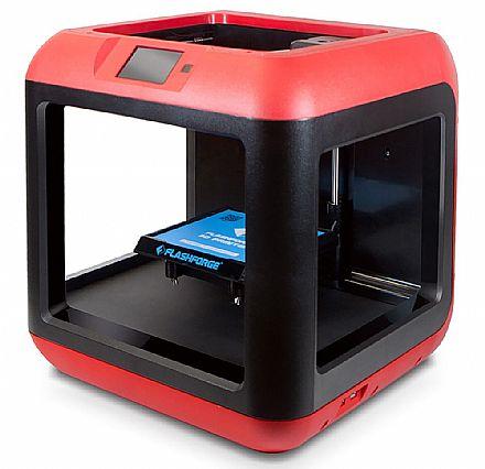 Impressora 3D Flashforge Finder - Velocidade de Impressão 150mm/s - Wi-Fi e USB - Vermelha - 28868