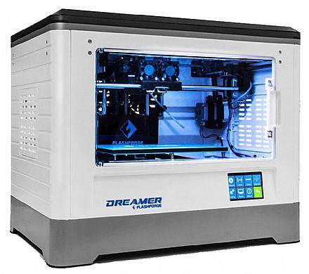 Impressora 3D Flashforge Dreamer - Dois Extrusores - Velocidade de Impressão 200mm/s - Wi-Fi e Entrada SD - Branca - 28869