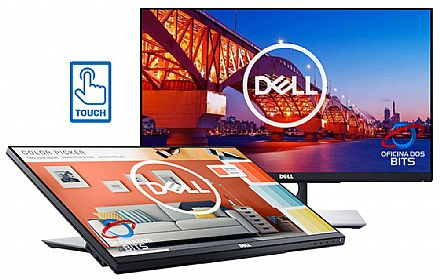 "Monitor 23.8"" Dell P2418HT Touch Screen - Full HD - 6ms - Inclinação até 60° - Furação VESA - USB 3.0 - DisplayPort/HDMI/VGA"