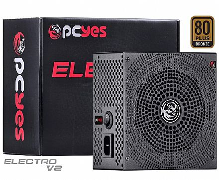 Fonte 750W Pcyes Electro V2 Series - Eficiência 82% - PFC Ativo - 80 PLUS® Bronze - ELECV2PTO750W