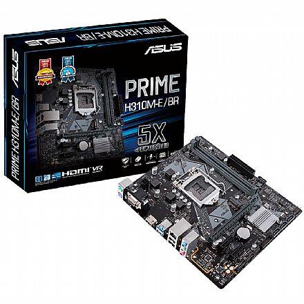 Asus Prime H310M-E/BR (LGA 1151 - DDR4 2666) Chipset Intel H310 - 9ª Geração Coffee Lake - USB 3.1 - Slots M.2 - Micro ATX