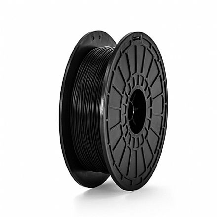 Filamento para Impressora 3D FFF - PLA Preto - 0,6Kg - 1,75mm - Flashforge