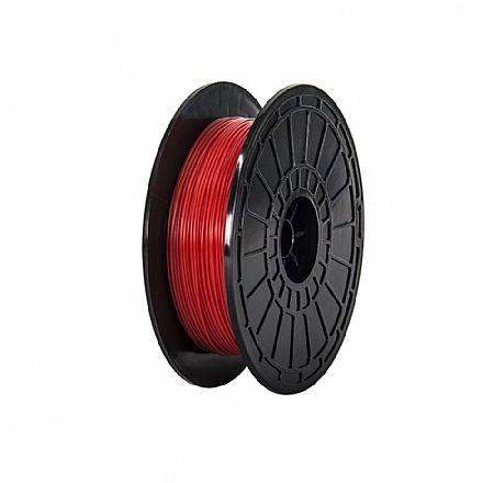 Filamento para Impressora 3D FFF - ABS Vermelho - 0,6Kg - 1,75mm - Flashforge