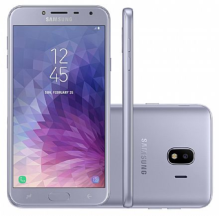 "Smartphone Samsung Galaxy J4 - Tela 5.5"" Super AMOLED, 32GB, Dual Chip, 13MP, Leitor de Digital - Prata - SM-J400M"