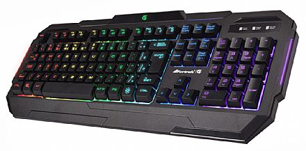Teclado Gamer Fortrek K1 - ABNT2 - Teclas Multimídia - com LED RGB - 64389