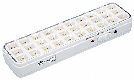 Luminária de Emergência com 30 LEDS - Bivolt - 2W - Engesul LDE-30L