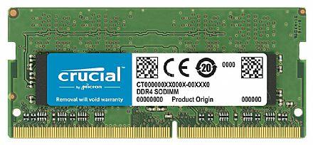 Memória SODIMM 8GB DDR4 2400MHz Crucial - para Notebook - Low Voltage 1.2V - CT8G4SFD824A