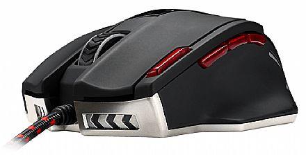 Mouse Gamer MSI Interceptor DS200 - 16400dpi - 9 Botões Programáveis - LED RGB - Peso Ajustável