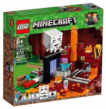 LEGO Minecraft - O Portal do Nether - 21143