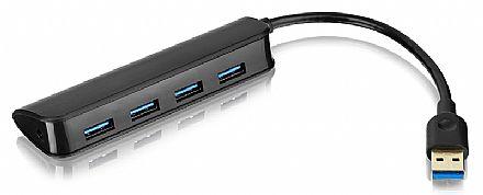 HUB USB 3.0 Slim - 4 Portas - Super Speed - Preto - Multilaser AC289