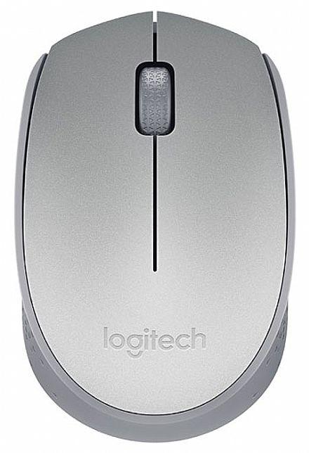 Mouse sem Fio Logitech M170 - 2.4GHz - 1000dpi - Prata - 910-005334