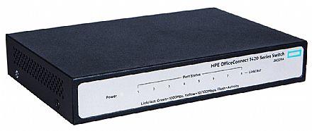 Switch 8 portas HPE Aruba 1420-8G - 8 portas Gigabit - JH329A