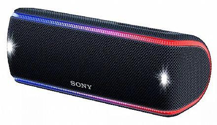 Caixa de Som Portátil Sony SRS-XB31 - à prova D`água - NFC e Bluetooth - com Iluminação LED - Preto