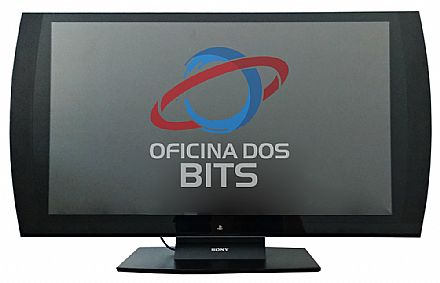"Monitor 24"" Sony Playstation - Full HD 3D - 240Hz - 4ms - Alto-falantes e Subwoofer embutidos - HDMI/RCA - CECH-ZED1U - Seminovo"