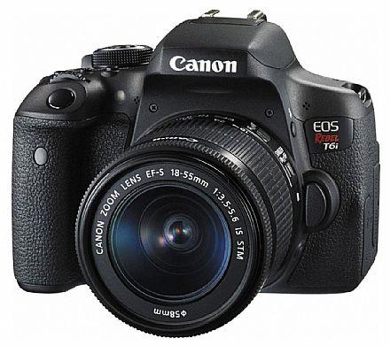 Canon EOS Rebel T6i Profissional com Lente 18-55 - 24.2 Mega Pixels - Sensor CMOS APS-C - DIGIC 6 - Wi-Fi e NFC - Vídeo Full HD