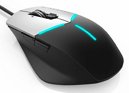 Mouse Gamer Dell Alienware Advanced AW558 - 5000DPI - 9 Botões Programáveis Omron - LED RGB AlienFX