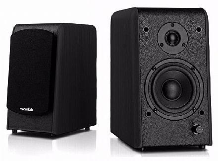 Caixa de Som 2.0 Bluetooth Microlab B77-BT - 64W RMS - Bivolt - Preta