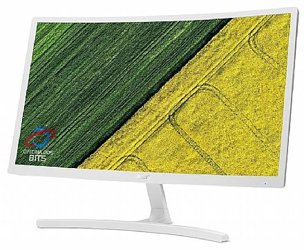 "Monitor 23.6"" Acer ED242QR WI - Full HD - Curvo - 4ms - 75Hz - FreeSync - VGA/HDMI - Branco"