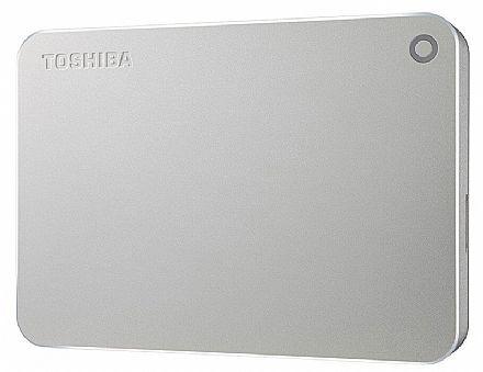 HD Externo Portátil 1TB Toshiba Canvio Premium - USB 3.0 - Prata - HDTW210XS3AA