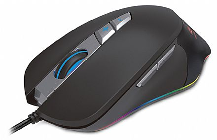 Mouse Gamer C3 Tech Bellied - 7000dpi - 7 Botões - com LED RGB - MG-700BK