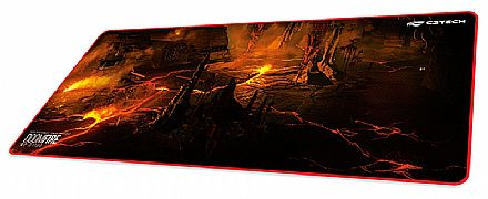 Mouse Pad Gamer C3 Tech Doom Fire - Extented - 700 x 300mm - MP-G1100
