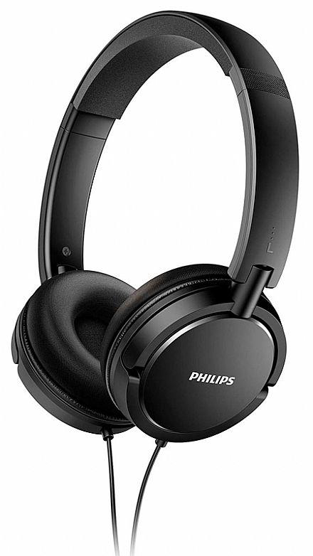 Fone de Ouvido Philips SHL5000/00 - Conector 3.5mm - Preto