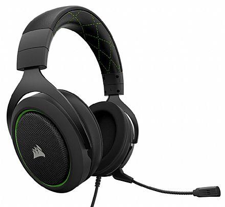Headset Corsair Gaming HS50 - com Controle de Volume - Verde - CA-9011171-NA