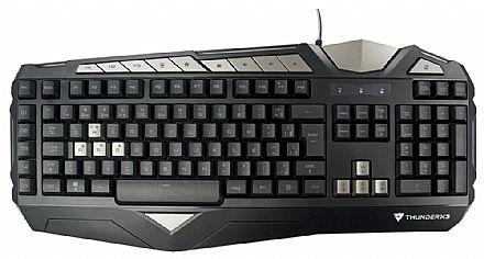 Teclado Gamer ThunderX3 TK25 - ABNT2 - 5 Teclas Macro - Anti-Ghosting - Iluminação LED 3 Cores