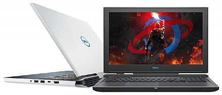 "Notebook Dell Gaming G7-7588-PR35B - Tela 15.6"" Full HD IPS, Intel i7 8750H, 16GB, HD 1TB + SSD 128GB, GeForce GTX 1060 6GB, Windows 10 Pro - Branco - Garantia 90 dias - Outlet"