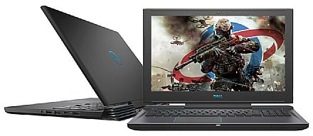 "Notebook Dell Gaming G7-7588-A20P - Tela 15.6"" Full HD IPS, Intel i7 8750H, 16GB, HD 1TB + SSD 128GB, GeForce GTX 1050 Ti 4GB, Windows 10 - Preto"