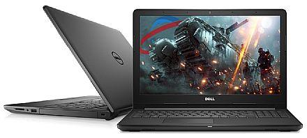 """Notebook Dell Inspiron i15-3576-A60P - Tela 15.6"""", Intel i5 8250U, 8GB, HD 1TB, Vídeo Radeon 520 2GB, Windows 10 - Preto - Garantia 1 ano - Liquidação última peça de vitrine"""