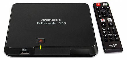 Captura de Vídeo AVerMedia EzRecorder 130 ER130 - Full HD 1080p - HDMI - Grava em USB - Ideal para Gravar Jogos - com Controle Remoto
