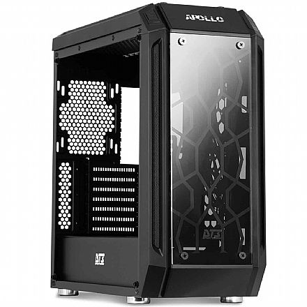 Gabinete DT3 Sports Apollo - PSU Cover - Lateral e Frontal de Vidro Temperado - com Controlador e Coolers RGB