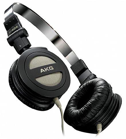 Fone de Ouvido AKG K404 - Dobrável - Conector 3.5mm