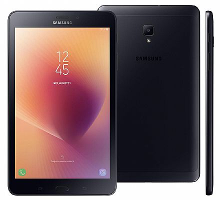 "Tablet Samsung Galaxy Tab A T385 - Tela 8"", Android, 16GB, Quad Core, Wi-Fi + 4G, Câmera 5MP - SM-T385M - Preto"