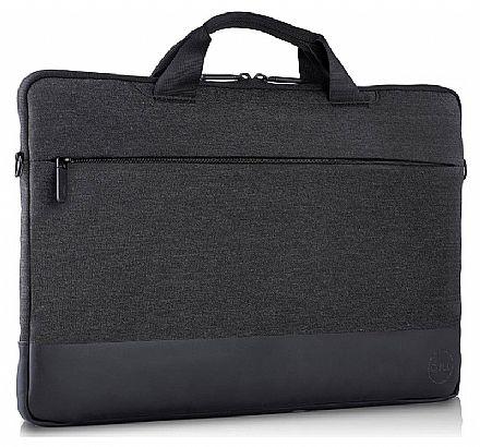 """Capa Dell Professional Sleeve - para Notebooks até 14"""" - com Alça - Resistente a Água - Cinza"""