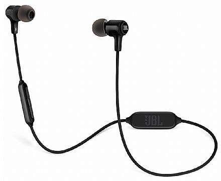 Fone de Ouvido Bluetooth Intra-Auricular JBL E25 BT - Cabo em Tecido - Preto - JBLE25BTBLK